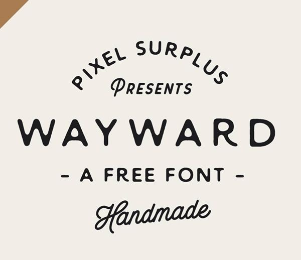 Wayward free font #freefonts #freebies #fontsfordesigners #typefaces