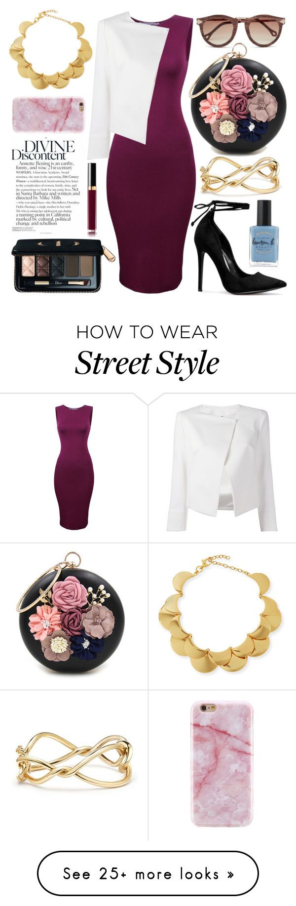 """✨✨✨"" by bstaudacher on Polyvore featuring WithChic, Lele Sadoughi, Plein Sud Jeanius, David Yurman, Christian Dior and Lauren B. Beauty"