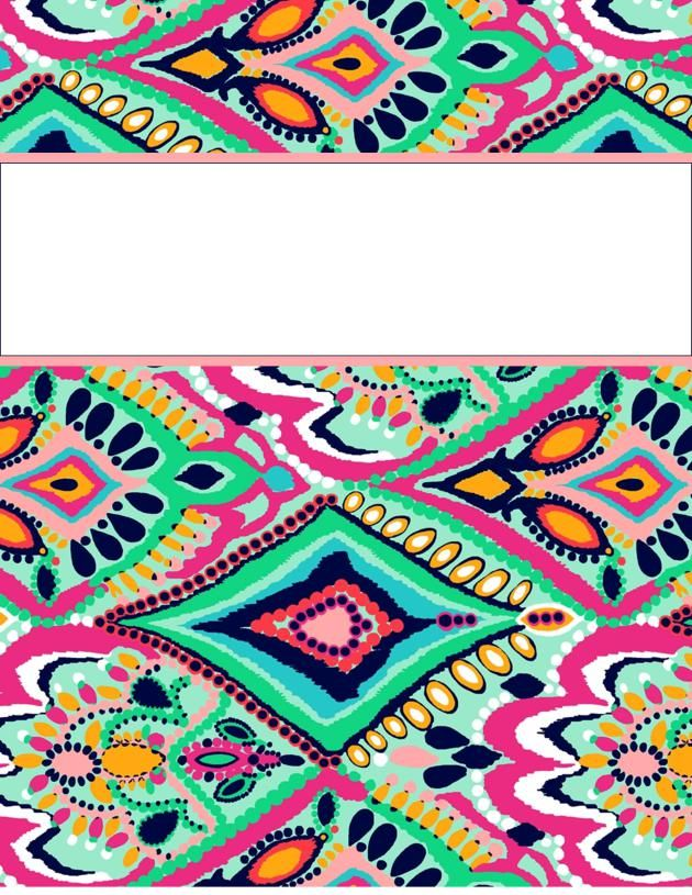 40 Different Colorful Free Printable Binder Covers