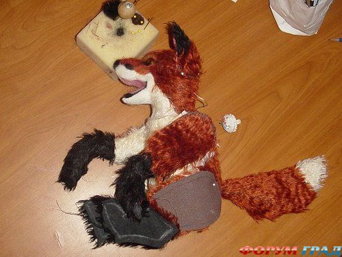 Free Fox Pattern With Open Mouth - could be used for a dog as well. 1/5