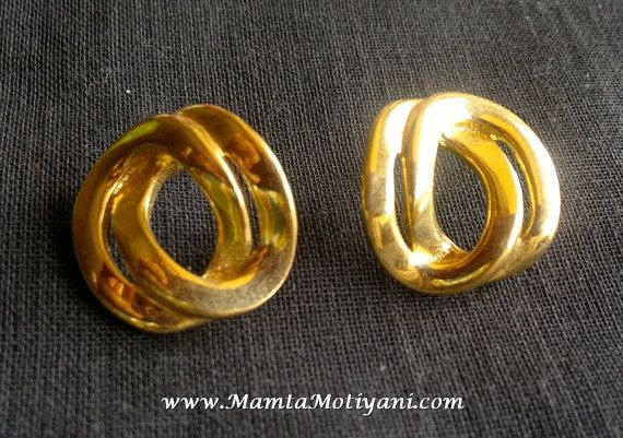 Vintage Monet Earrings Estate Jewelry Monet Gold Tone by RaajMa