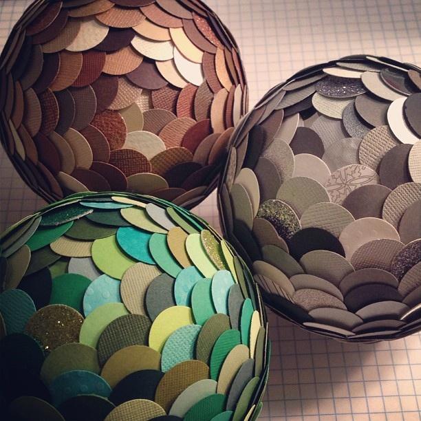 Paper spheres by Ashley Gierke