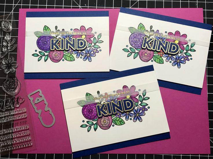 SSS November card kit - thank you card