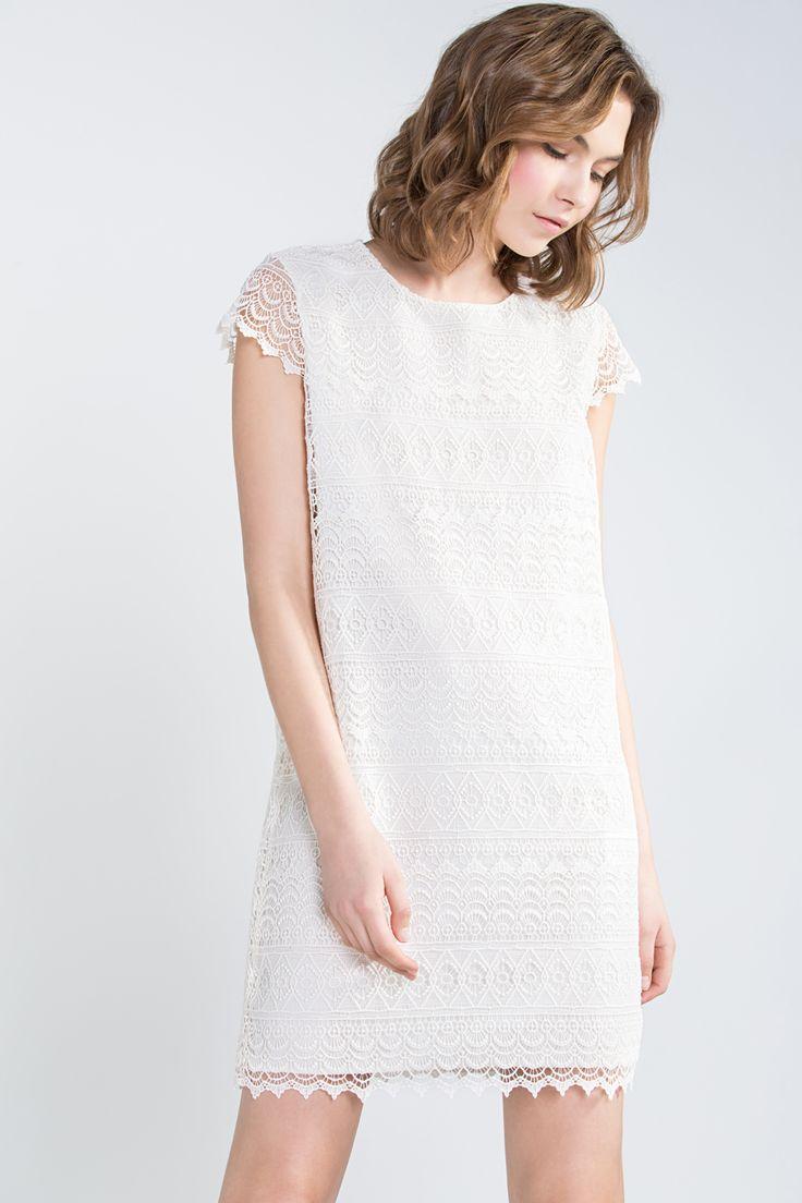 Cortefiel - Vestido guipur