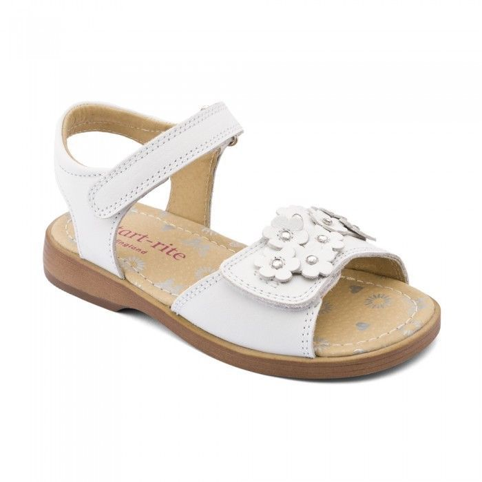 Startrite Moon Flower Girls Summer Sandals Size 8 - 1.5 F White or Pearl Velcro