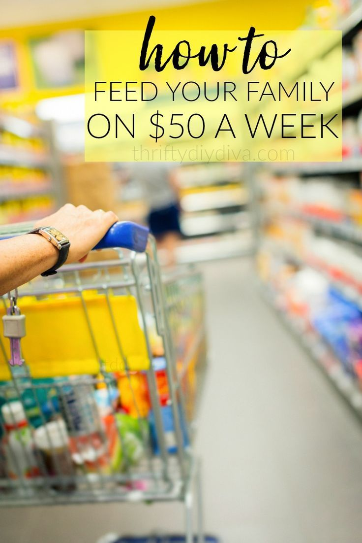 How To Feed A Family On $50 A Week - menu planning, free printable menu plan…