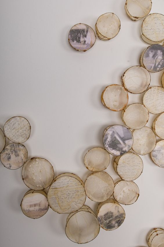 """Leslie Pearson """"Cells"""" (detail) - Paper installation"""