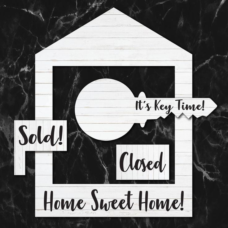 White Wash Wooden House Frame Prop Set Real Estate Marketing Just Sold Testimonial Signs