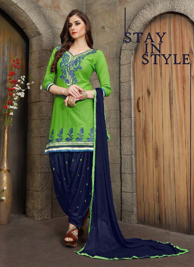 Click On Bazaar Navy Blue and Green Color Patiala Salwar Suit - ClickOnBazar  #onlinepatiala #designerpatialasalwar #patialasalwarsuits #designerpatialasalwar #clickonbazaarpatialasuits