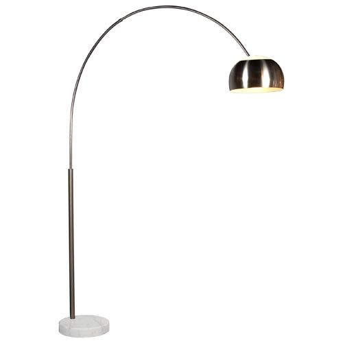 Arc Satin Nickel Floor Lamp
