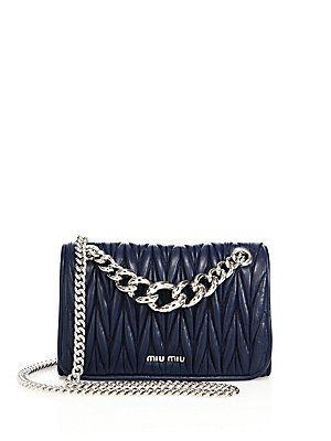 Miu Miu Club Matelassé Leather Chain Shoulder Bag -