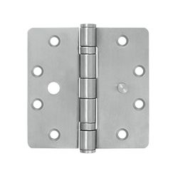 """Deltana Stainless Steel Radius Butt Hinge (4.5"""" x 4.5"""" x 1/4"""") Stainless steel hinges are great for waterside properties and outdoor use. High-Grade Stainless Steel First rate stainless steel is easy to care for, resistant to corrosion and environmental influences"""