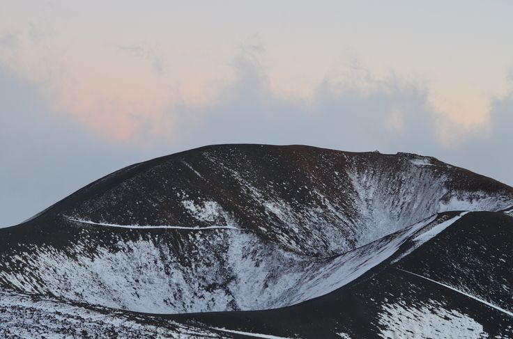 Silvestri crater with snow