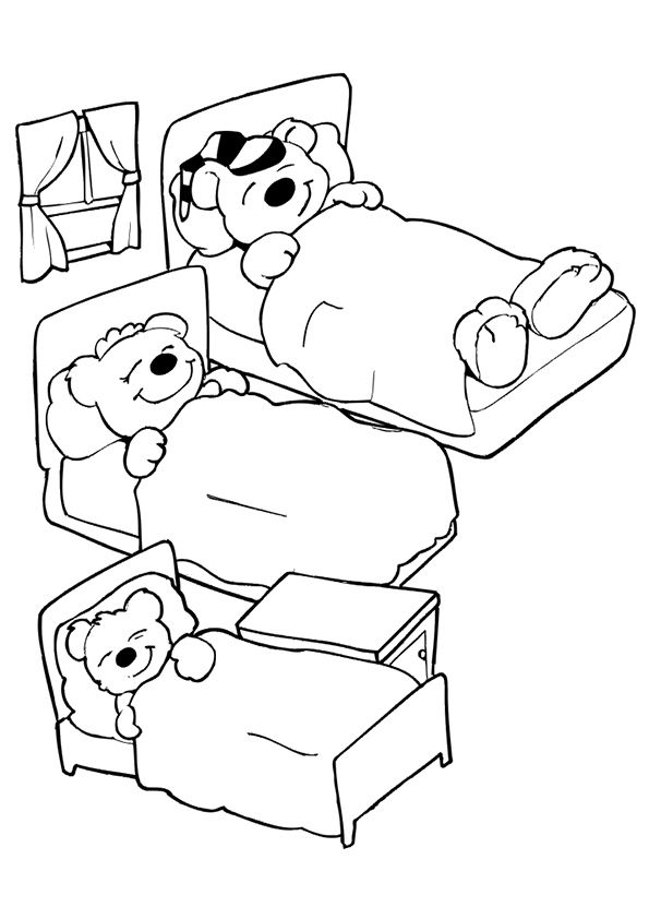 Goldilocks And Papa Bear Coloring Sheet Goldilocks