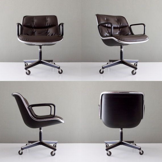 Vintage Knoll Pollock Executive Office Chair via castandcrew on Etsy, 529.00