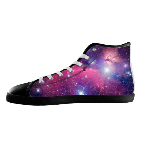 Purple Galaxy Shoes - Available Here: http://www.customdropshipping.com/personalized-design/personalized/galaxy-purple-black-high-top-canvas-shoes-model002-women-47254