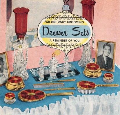 "1952 vanity sets ""for her"""