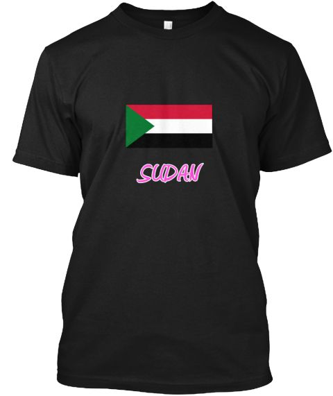 Sudan Flag Artistic Pink Design Black T-Shirt Front - This is the perfect gift for someone who loves Sudan. Thank you for visiting my page (Related terms: I Heart Sudan,Sudan,Sudanese,Sudan Travel,I Love My Country,Sudan Flag, Sudan Map,Sudan Language, Su #Sudan, #Sudanshirts...)