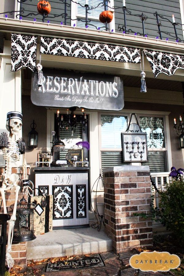 via Daybreak, 20 Fabulously Spooky Halloween Front Porches via A Blissful Nest