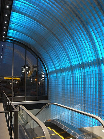 Naniwa-bashi station, Osaka; designed by ANDO Tadao, Japan
