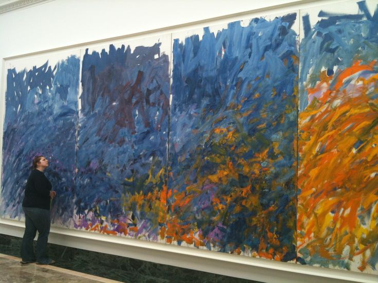 From the Joan Mitchell show at the Butler Museum of American Art, Youngstown, PA