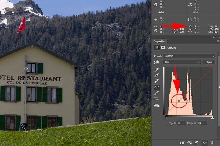 Here is a simple and accurate way of doing color correction on your images using the Curves Tool in Photoshop and matching RGB values in your image.