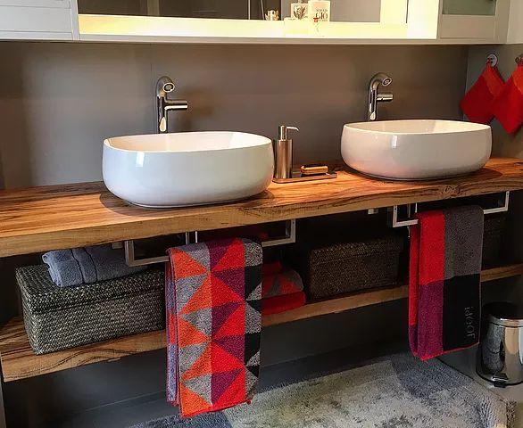 ber ideen zu waschtischplatte holz auf pinterest. Black Bedroom Furniture Sets. Home Design Ideas