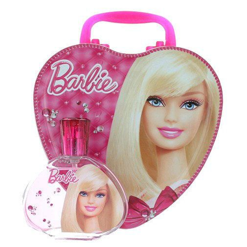 Barbie by Air-Val , 3.4 oz Eau De Toilette Spray for Girls with Metal Lunch Box  #Barbie