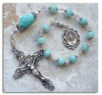 Silver rosary