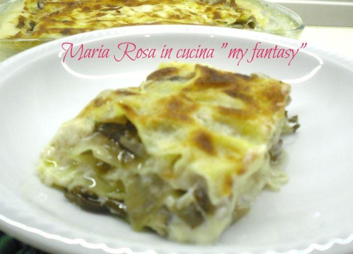 LASAGNE AL RADICCHIO ROSSO TARDIVO, ricetta deliziosa