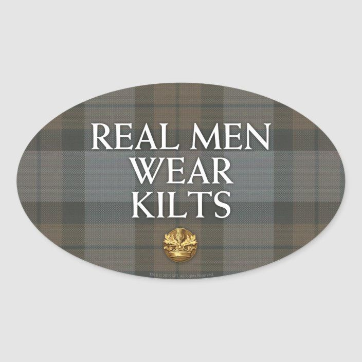 Outlander Real Men Wear Kilts Oval Sticker Zazzle Com In 2021 Print Stickers Outlander Outlander Gifts
