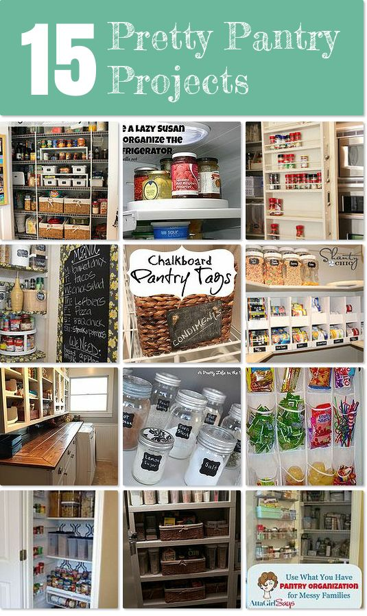 Lots of great tips for organizing your pantry and keeping it pretty!