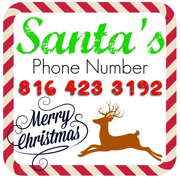 Best Santas Phone Number Images On   Santa Phone