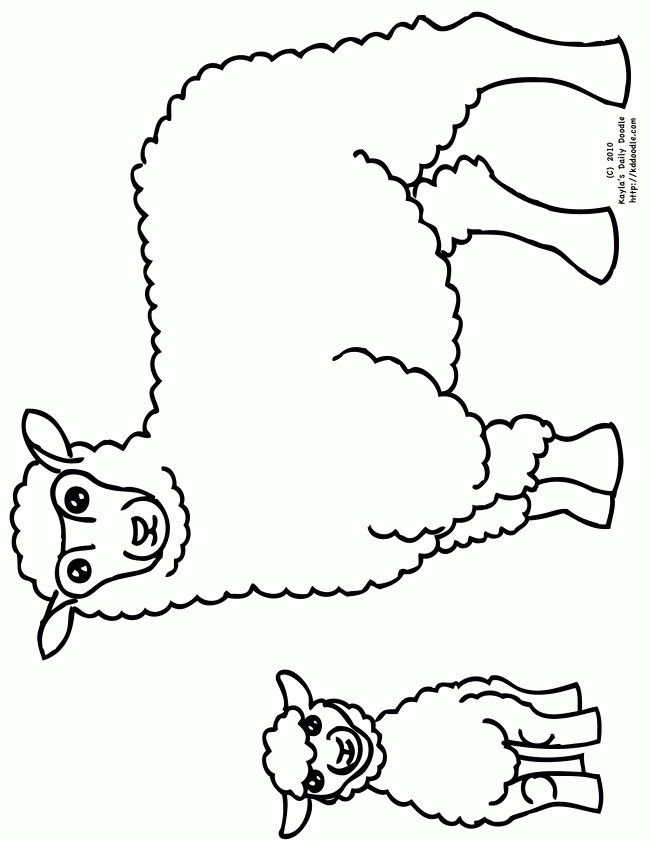 Free printable pictures of sheep free printable coloring for Lamb template to print