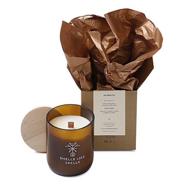 Smells Like Spells // MIMIR handgemachte Sojawachs Duftkerze Sandelholz Opium Minze • aus 100% biologischem Sojawachs • mit Holzdocht, der beim Brennen angenehm knistert • hochwertiges Glas mit Holzdeckel • 100% Vegan • koscher, zertifiziert von Orthodox Union • verbrennt schadstofffrei & 2x langsamer als gewöhnliche Paraffinkerzen • durch den niedrigen Schmelzpunkt ausbreitet sich das Aroma schneller und gleichmäßiger #MECode #Onlineshop #SmellsLikeSpells #Sojawachsduftkerze #Duftkerze…