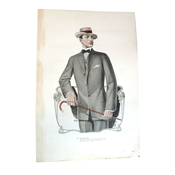 Antique J.L. TAYLOR & CO 1912 Oversized illustrated swatch card | From a collection of rare vintage other at http://www.1stdibs.com/fashion/ephemera/other/