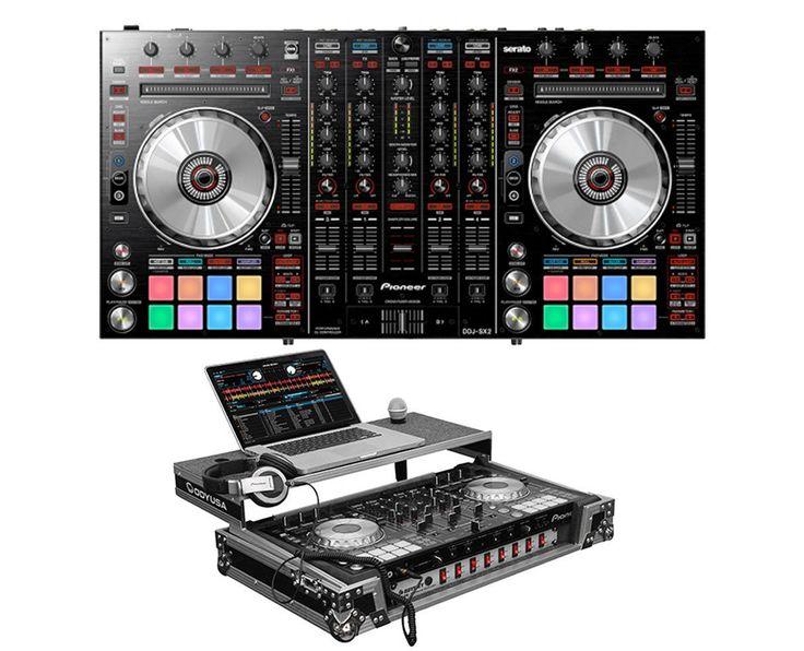 Pioneer DDJ-SX2 DDJSX2 4-Channel Serato DJ Controller  Glide Style Case w/Rack
