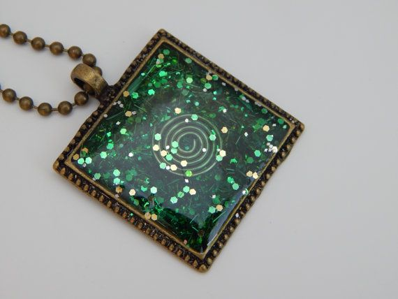 219 best 11 crystal orgone art for sale images on pinterest gift green heart chakra orgonite pendant with bronze by marioncrystal mozeypictures Images