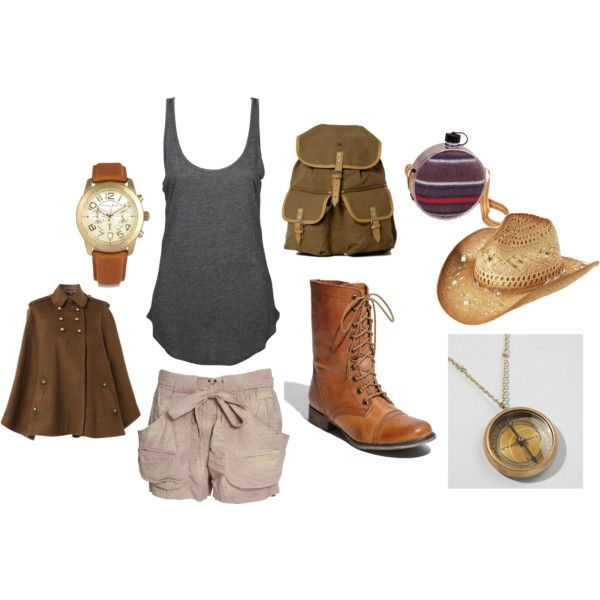 Hiking / Outdoors Outfit---not the poncho, hat, boots, or backpack