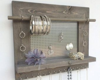 New Size Jewelry Organizer Wood Wall Hanging by DivaDisplay