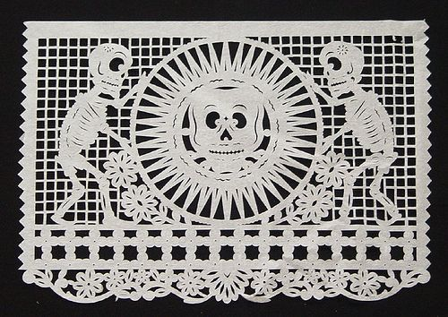 Aztec Sun Stone and Skeletons by peacay, via Flickr