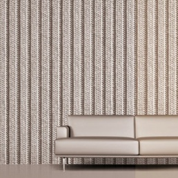 How cosy - knitted look wallpaper. Found via Cafe Cartolina