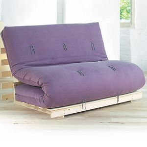 Fiji sofa bed has a folding pine base and a 7 layer futon mattress. The sofa bed has a modern, Japanese style. UK Made. Buy online. Free UK Delivery.