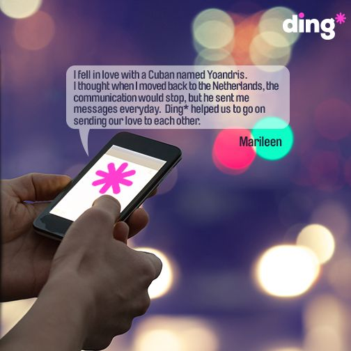 Marileen tells us how ding* helps her to keep in touch with her loved ones. www.ding.com
