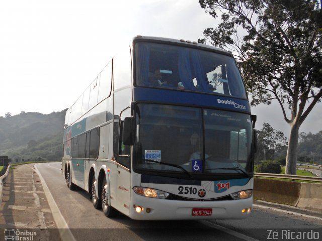 Ônibus da empresa Auto Viação 1001, carro 2510, carroceria Marcopolo Paradiso G6 1800 DD, chassi Scania K420. Foto na cidade de Seropédica-RJ por Zé Ricardo, publicada em 14/02/2013 14:56:49.