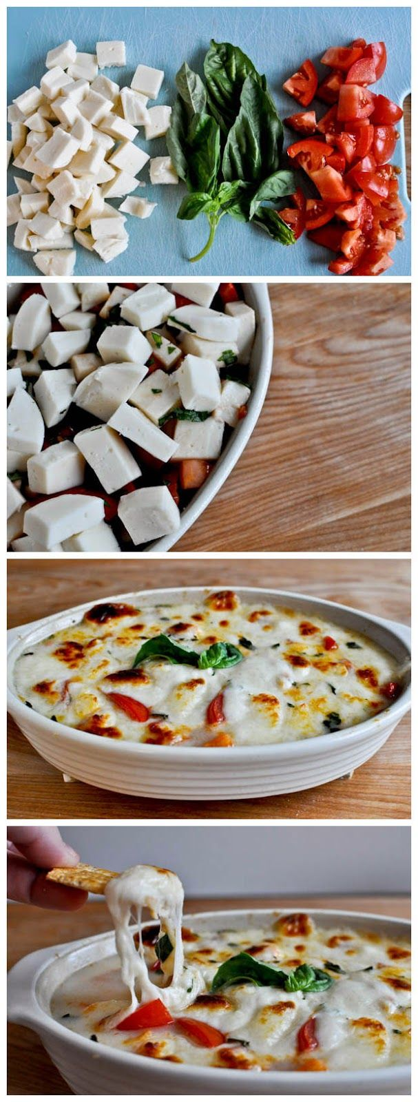Hot Caprese Dip: a variation on the traditional cold caprese salad.