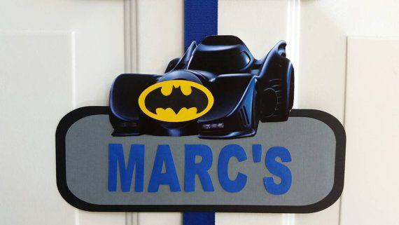 Batman bienvenida puerta signo signo de puerta de Batman