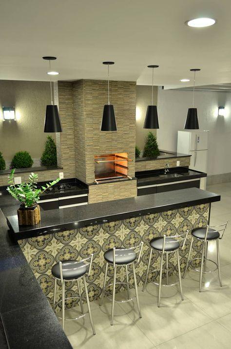 Área externa cozinhas por impelizieri arquitetura Decoraç u00e3o Decoraç u00e3o de churrasqueira  # Decoração Para Area Externa Churrasqueira
