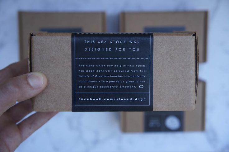 Cardboard box with sticker | STONED