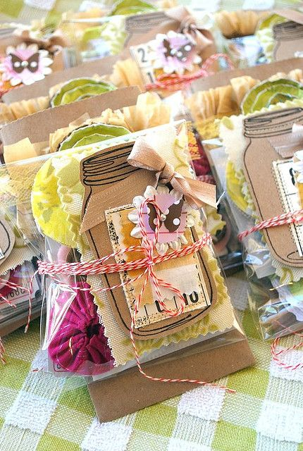 cute packaging, could be little packages of bits and pieces for card making, decoupage, etc.